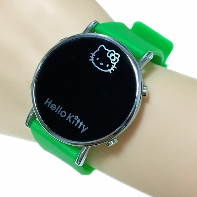 Children Electronic Sport LED Digital Wrist Watch Boys Silicone Watch Hello Kitty Cartoon Girl Kids Gift Relogio Infantil Lovely