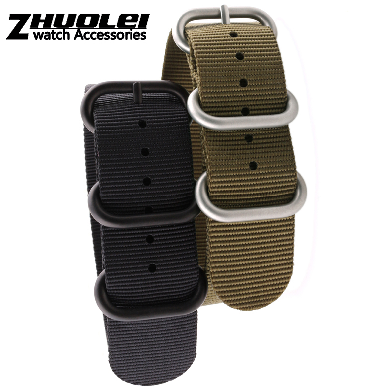 Nato 20mm 22mm 24mm ZULU army green black Watch Strap Band Strong Heavy Duty Nylon Divers Brushed Buckle perlon watch strap 1pcs heavy duty nylon straps 20mm 22mm 24mm nylon watch band nato strap zulu strap watch strap silver ring buckle