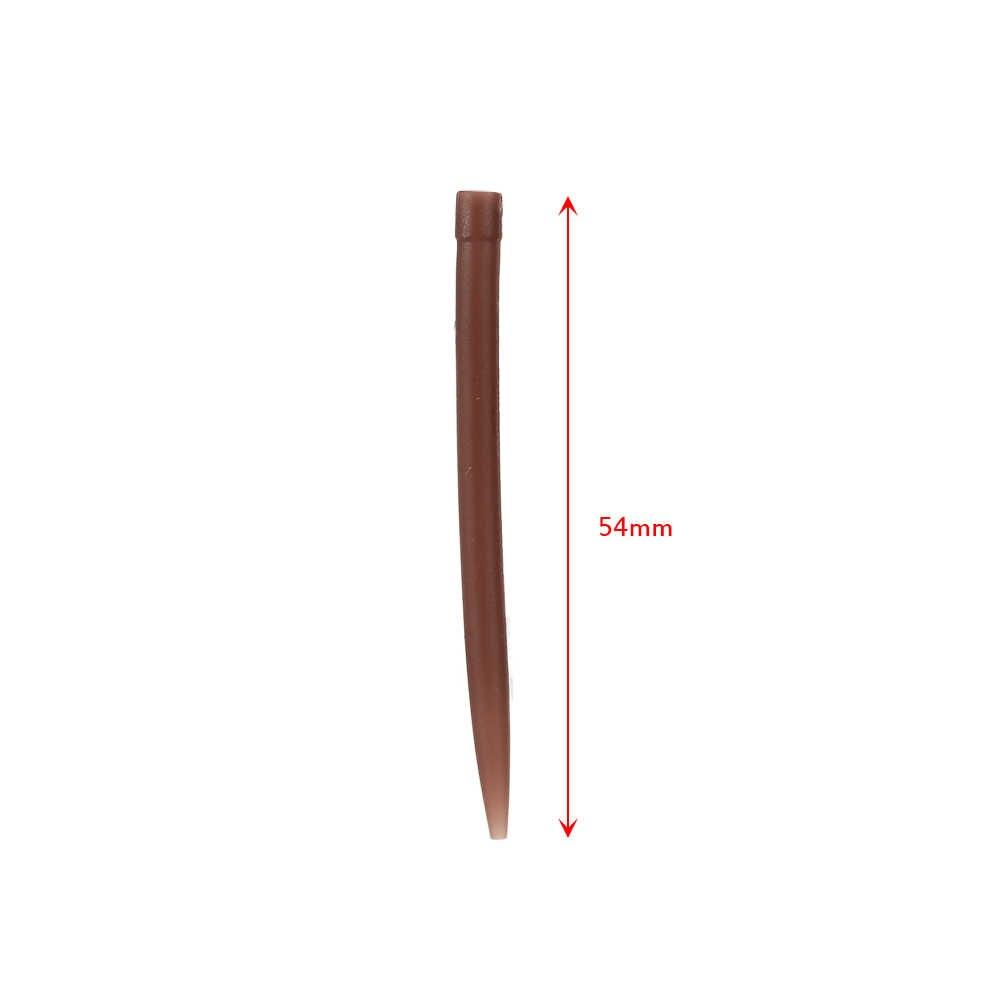 Lixada 50pcs 54mm Anti Tangle Gummi /Ärmel verbinden mit Angelhaken Karpfen Grob Angeln Zubeh/ör