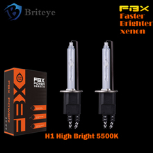 2 pcs H1 5500K Pure White HID XENON 55W Headlight HID Bulb High Light Extremely Bright