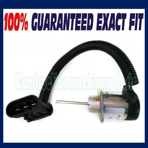 6691498 Bobcat Fuel Shut Off Solenoid S510 S530 T110 T140 T180 T190 S150 3924450 2001es 12 fuel shutdown solenoid valve for cummins hitachi