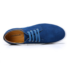 Merkmak British Style Men Shoes Fashion Casual Suede Footwear Flats Shoes Formal Business Sneakers Big Size 38-49