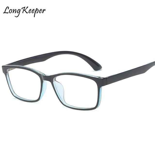 9b1dc8c9f LongKeeper 2018 a Forma Das Mulheres Preto Lente Clara Óculos Quadrados  Óculos de Armação Para Homens