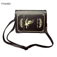 New Arrival Women Vintage Gothic Handbag Book Style 3D PU Shoulder Bag Lady Lolita Casual Messenger Bag Crossbody Bags