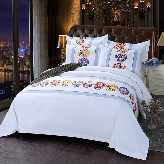 1 Piece Soft Cotton Bedding Sheets Fashion Printed For Mattress Simple Style Flat Bed