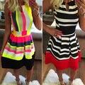 Women Sexy Summer Casual Sleeveless Evening Party Beach Dress Short Mini Dress
