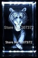 K9 Optical Crystal Mighty Customize 5 5 8CM Crystal 3D Laser Tiger Crystal Paperweight HD Promotional
