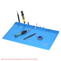 Magnetic Soldering Iron Heat Insulation Pad For BGA Soldering Station Repair Mat High Temperature Maintenance Silicone