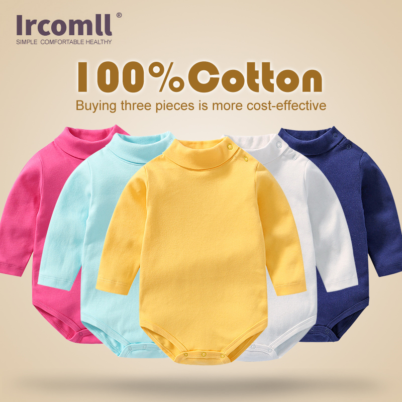 Ircomll Newborn Baby Clothing Long Sleeve Cotton  Baby Girls Boys Romper Roupas Infantil & One-Pieces