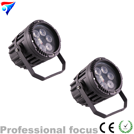 Free Shipping 2pcs/Lot Mini 6*3W RGB 3in1 Led Par Light Remote Control For Dj Disco Effect Lights Stage