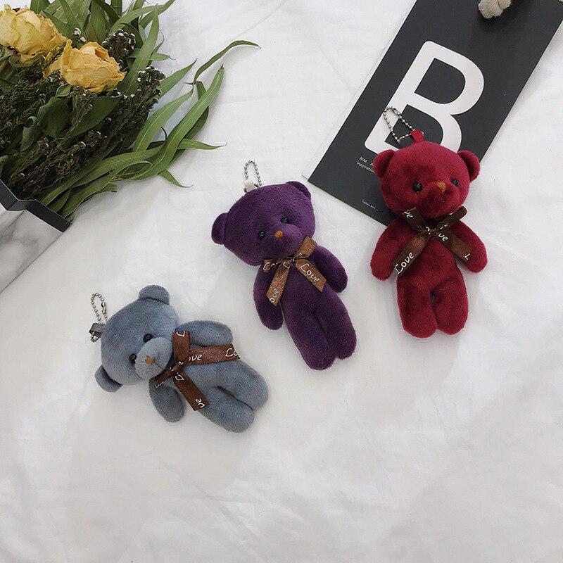 Stuffed TOY Figure Pendant Key-Chain Plush-Toy Bear-Doll Wedding-Bear Love 1PC Approx.