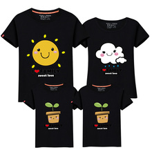 New family t shirts mother father Baby girls boys summer tops short sleeve mommy and me father son matching outfits tees plus