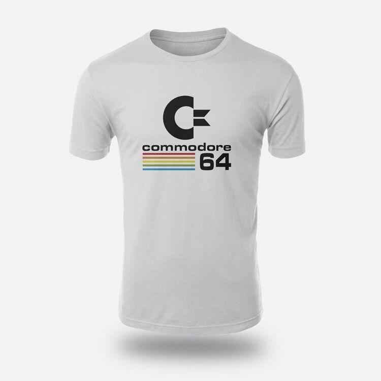 Commodore 64 машина судьба белый Для Мужчинs Футболки для девочек Размеры S-3XL Футболки