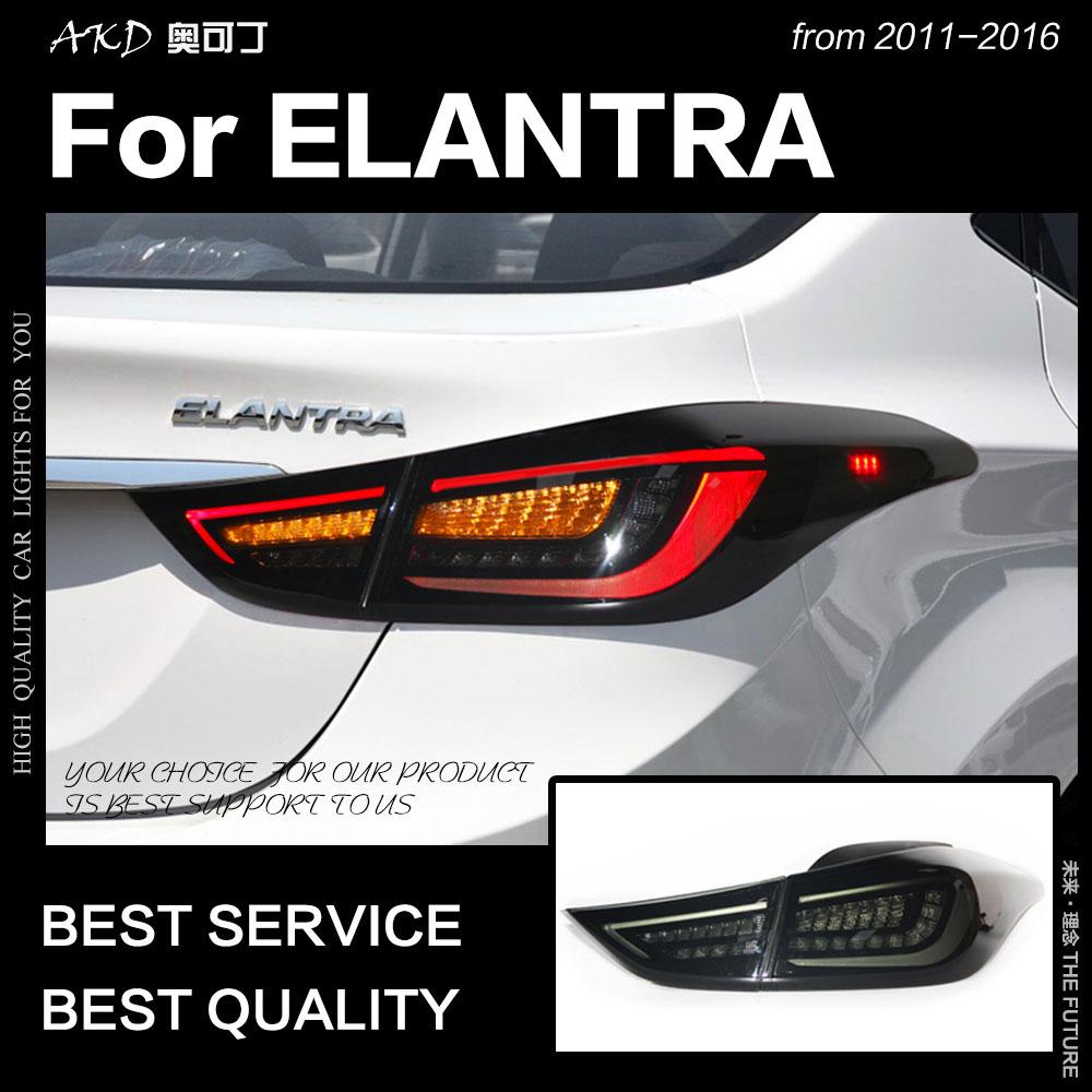 AKD Car Styling for Hyundai Elantra Tail Lights Elantra MD LED Tail Light Rear Lamp DRL