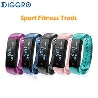 Colorful Smart Brecelet Diggro ID115 Lite Simple Three Color LED Indicator Light Bluetooth Sport Smart Wristband