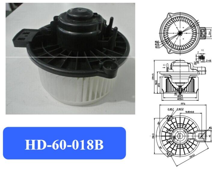 Moteur de ventilateur de climatisation automobile, moteur de ventilateur électronique, moteur de ventilateur de ville adapté à la voiture japonaise