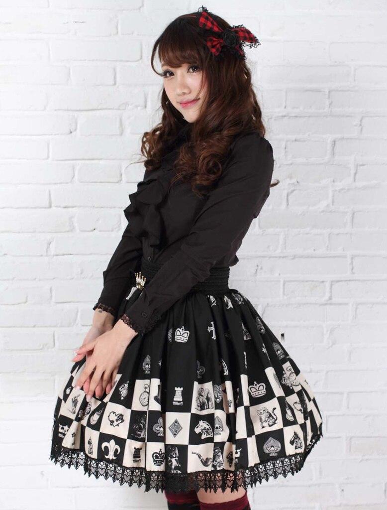 Γοτθική ελαστική φούστα για - Γυναικείος ρουχισμός - Φωτογραφία 2