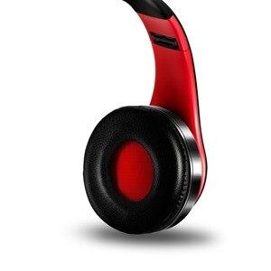 Image 4 - أفضل سماعات لاسلكية سماعات مع ميكروفون ستيريو رقمي سماعة رأس بخاصية البلوتوث بطاقة مشغل MP3 راديو FM موسيقى للجميع