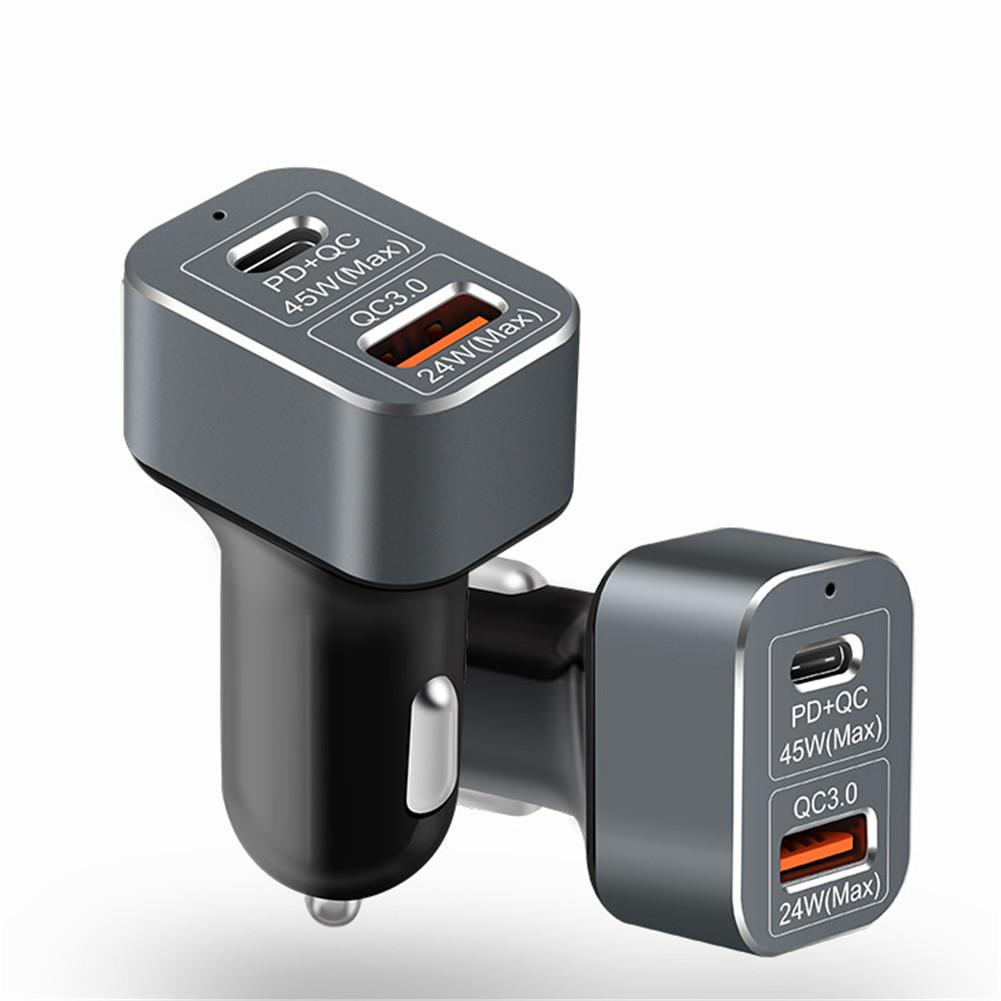 USB-C PD Charger 69W PD+QC3.0 Fast Car Charger Quick Charge 3.0 Adapter For iPhone X /8 Plus /Xiaomi Mi6 /Mi5S Plus /HUAWEI P9+