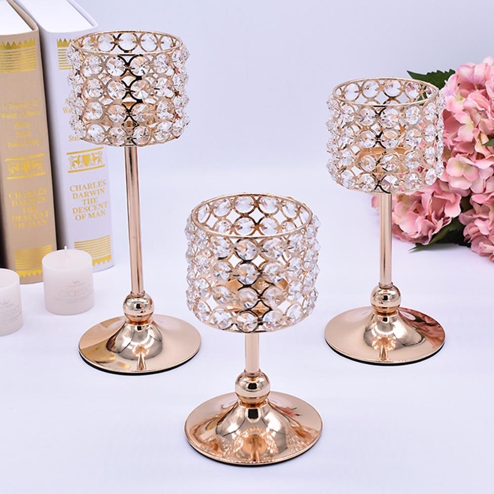 Peandim 3πλ. Ασημένιο Χρυσό Κερί - Διακόσμηση σπιτιού - Φωτογραφία 6