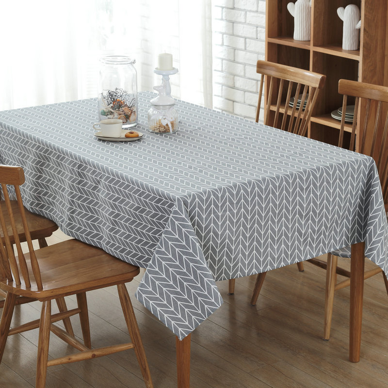 Cheap Price Modern Style Table Cover Canvas Gray Table Cloth for Restaurant Home Hotel Conference Table