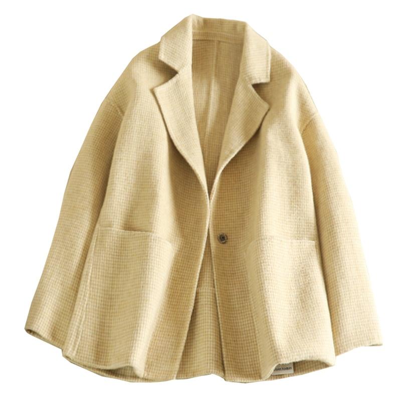 Hiver Nouveau Beige gris Manteau Laine Court rose Guesod Alpaga Conception Survêtement Femmes Haute Mode Qualité 2018 Plaid De Mince xaTxq5wX