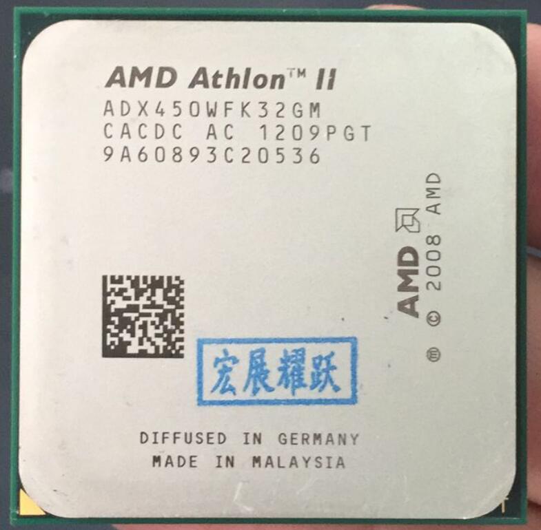 AMD Athlon II X3 450  X450 Three Core AM3 938 CPU 100% Working Properly Desktop Processor