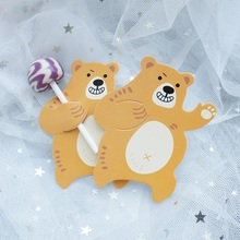 naughty bear 50pcs lollipop cover as children birthday babay shower wedding candy decorate holiday Christmas gift packaging