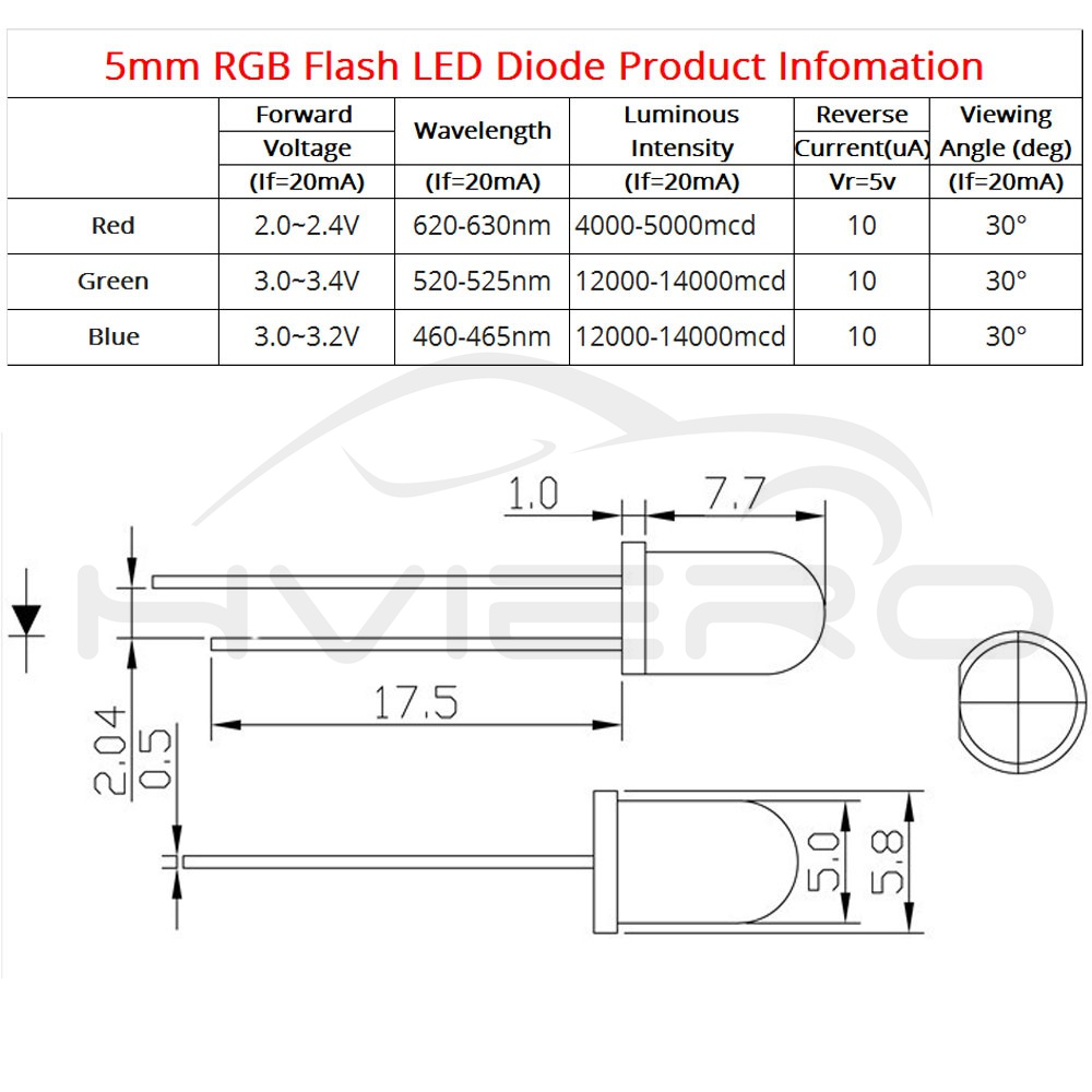 Flash Diode Diagram Wiring Online Light Emitting 100x F5 5mm Round Slow Rgb Fast Led Rainbow Multi Direction