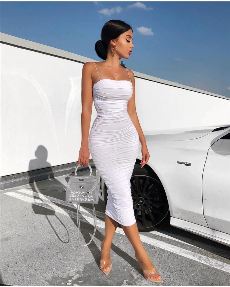 HTB1sxKSXrj1gK0jSZFOq6A7GpXaw - NewAsia 2 Layers White Summer Dress Women 2020 Elegant Straps Ruched Maxi Dress Pink Long Dress Sexy Dresses Party Night Robe