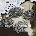 19x26  mm 10PCS Antiqued Silver plated  brass Filigree Jewelry  Setting Cab Base Connector Finding (FILIG-AS-5)