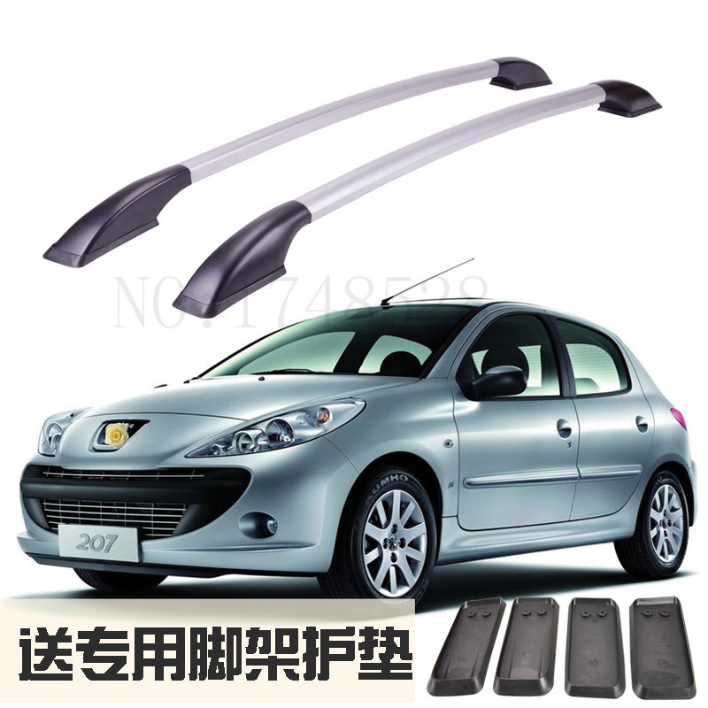 Accessories Refitting the roof rack of aluminum alloy luggage rack for Peugeot 206 207 Auto parts 1.2M partol black car roof rack cross bars roof luggage carrier cargo boxes bike rack 45kg 100lbs for honda pilot 2013 2014 2015