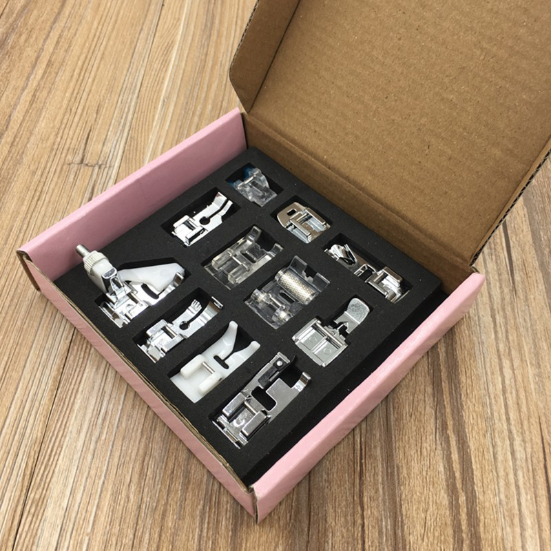 11 stks multifunctionele naaivoet onderdelen accessoires voor naaimachine brother singer naaien gereedschap & accessoire nieuwe