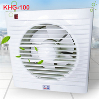 KHG 100 Mini Wall Window Exhaust Fan Toilet Bathroom Kitchen Fans Exhaust Fan Installation of Windows Panel size 158*158MM