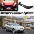 Car Splitter Diffuser Bumper Canard Lip For Acura ZDX 2009~2016 Tuning Body Kit / Car Front Deflector Fin Chin Spoiler Reduce
