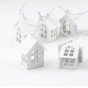 Image 3 - 2M 10pcs LED USB/סוללה כוח חג המולד עץ בית סגנון פיות אור Led מחרוזת לידה חתונת זר חדש שנה דקור עבור בית