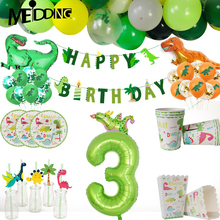 Dinosaur Disposable Tableware and Dino Latex balloons for Kids toys Birthday party decoration Jungle party backdrop Roar dino dinosaur roar
