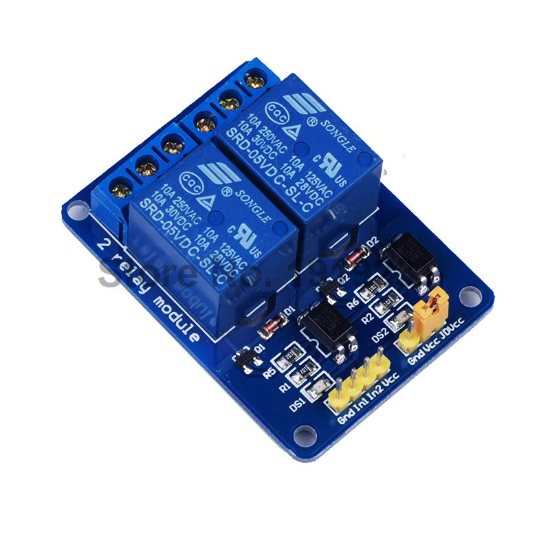 5PCS 2 Channel 5V Relay Module Shield Isolation Control 2Channel Low Level for font b Arduino