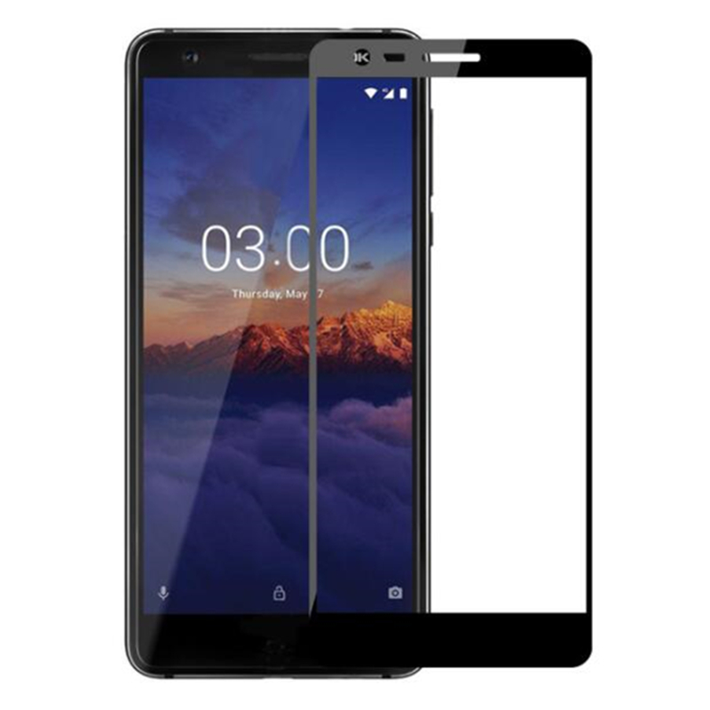 Full Cover Tempered Glass For <font><b>Nokia</b></font> 3 <font><b>3.1</b></font> 3.2 <font><b>3.1</b></font> Plus X3 Nokia3.1 Nokia3 2nd 2018 <font><b>Screen</b></font> <font><b>Protector</b></font> Protective Black Film image