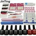 New Arrival Manicure Set  6 Color 10ml soak off Gel base gel top coat polish Nail Art Tools Sets Kits