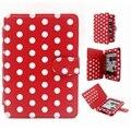 Alta calidad cubierta de la caja de amazon kindle paperwhite nuevo polka dot cuero de la pu de despertador/función del sueño caso de la cubierta para kindle 6 pulgadas