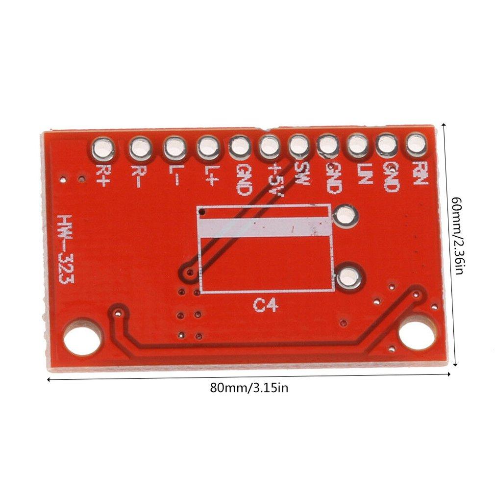 Красная доска Pam8403 ультра-мини цифровой усилитель мощности доска небольшой усилитель мощности высокой мощности 3 Вт двухканальный