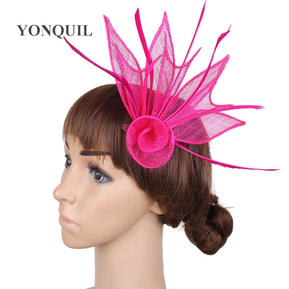 ⃝Alta calidad de múltiples colores sinamay base fascinator headwear ...