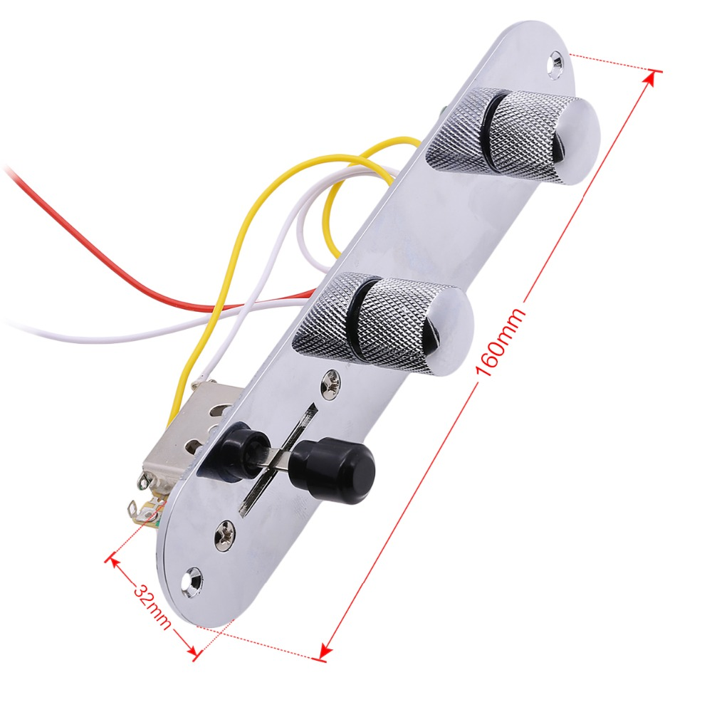 Chrome 3 Way Wired Loaded Prewired Control Plate Harness Switch Tele Wiring Knobs For Tl Telecaster Guitar Parts In Accessories From Sports