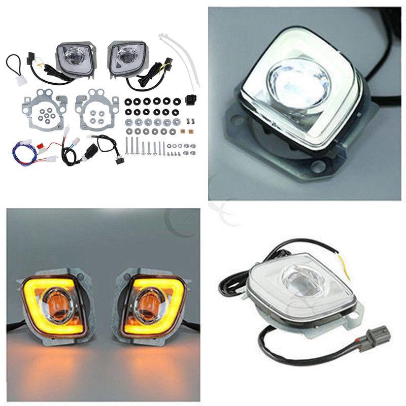 TCMT поворотов светодио дный прямоугольный Running противотуманных фар комплект для Honda Goldwing GL1800 F6B Валькирия 2012-2017 мотоциклетные
