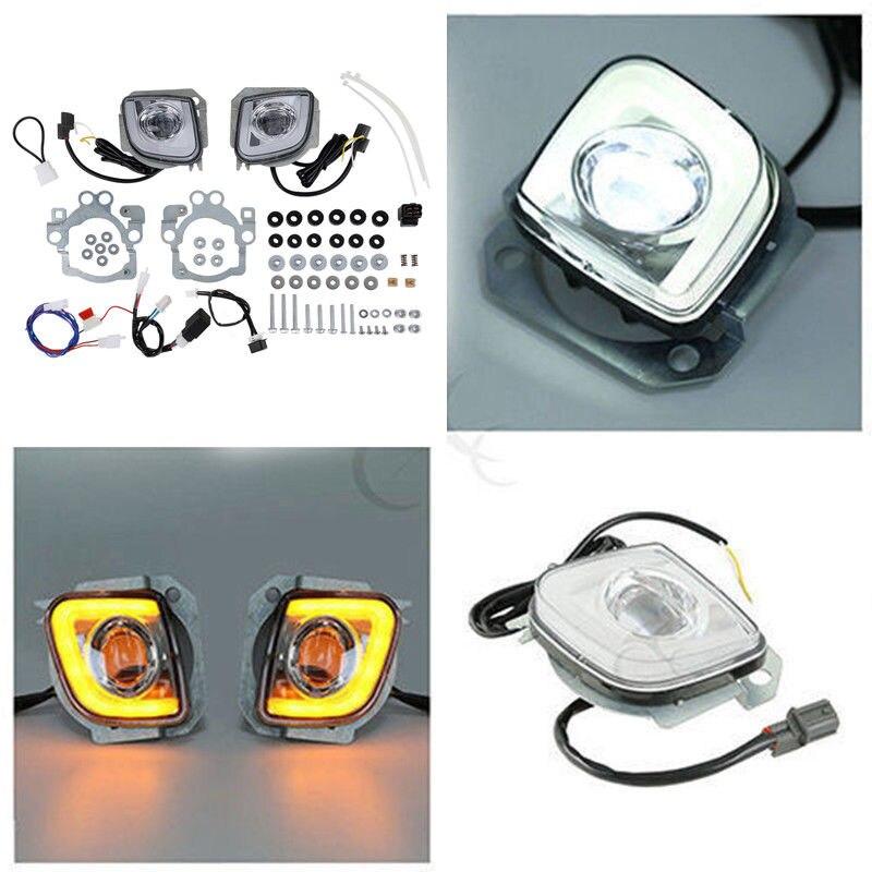 TCMT Turn Signal LED Rectangular Running Fog Light Kit For Honda Goldwing GL1800 F6B Valkyrie 2012-2017 Motorcycle