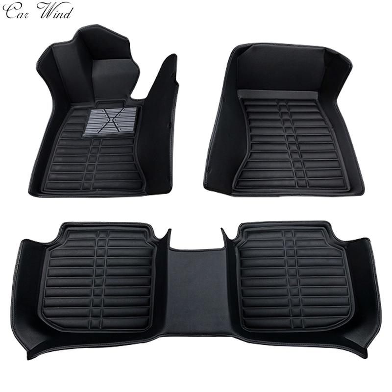Car Wind Leather Car Floor Mat For Vw Volkswagen Polo Bora