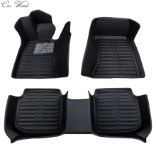 Car wind leather car floor mat for VW Volkswagen Polo Bora Golf Tiguan Passat touareg waterproof liner Carpets car accessories