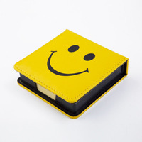 Cute Leather A7 Memo Pad Mini Paste Message Stickers Smile Laugh Notebook Personal Daily Planner Organizer