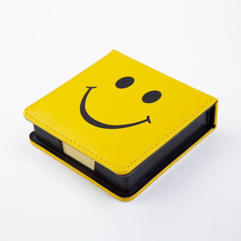 Cute Leather A7 Memo Pad Mini Paste Message Stickers Smile Laugh Notebook Personal Daily Planner Organizer Notes Paper With Box cute leather a7 memo pad mini paste message stickers smile laugh notebook personal daily planner organizer notes paper with box